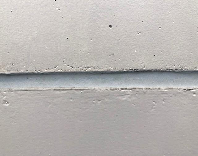 外壁打継ぎ目地 シーリング施工後