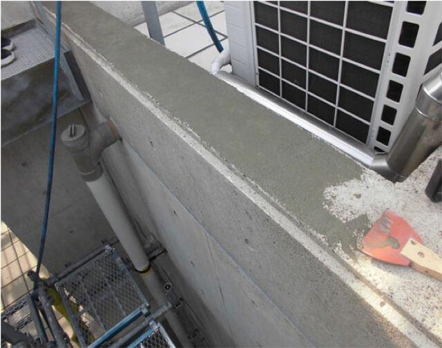 天板の下地補修 ミラクファンドKC-2000