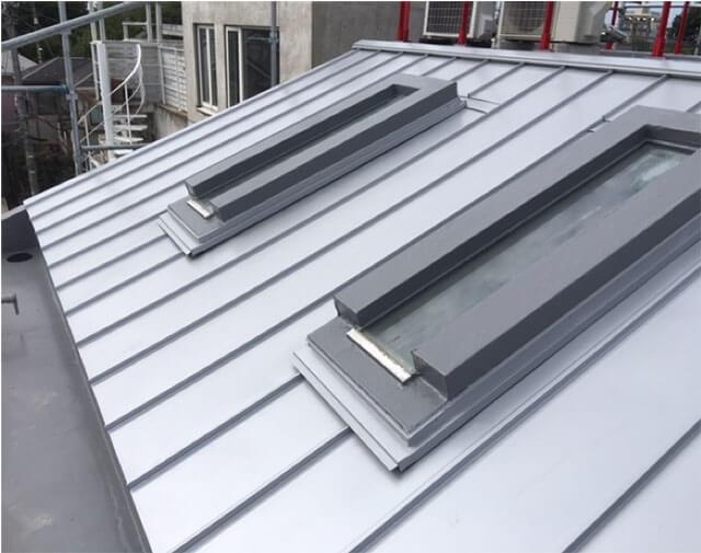 ガルバニウム屋根設置