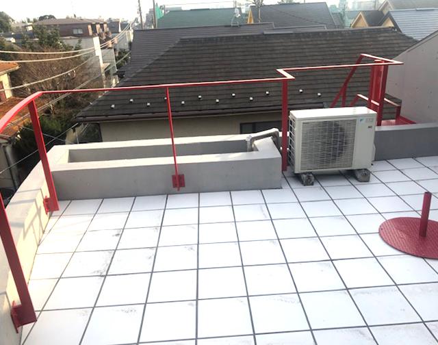 屋上・セットバック 防水完了