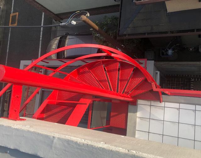 螺旋階段 世田谷S邸 コンクリート打ちっ放し 外壁 防水 塗装