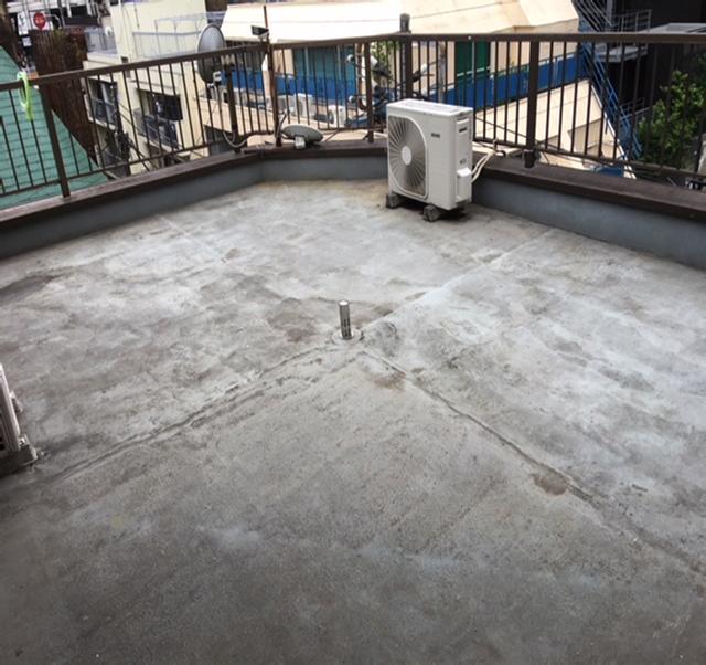 東京港区Nマンション外壁防水工事 屋上