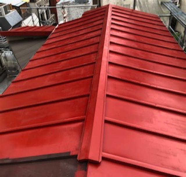 東京港区Nマンション外壁防水工事 屋根 エポキシ系錆止め