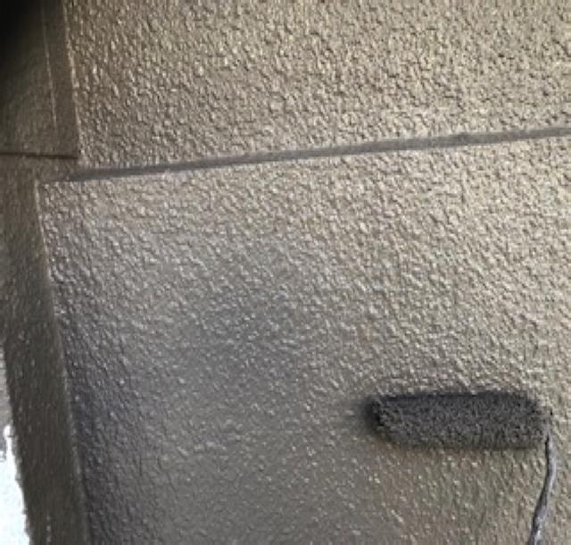 東京港区Nマンション外壁防水工事 上塗り