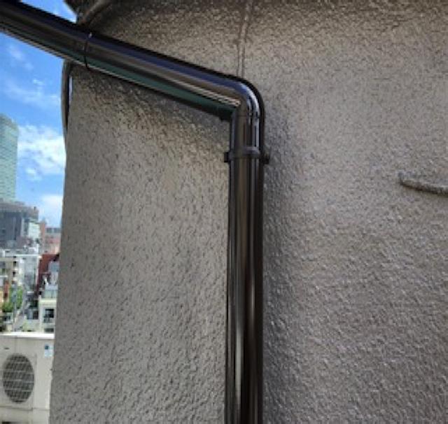 東京港区Nマンション外壁防水工事 樋 施工完了
