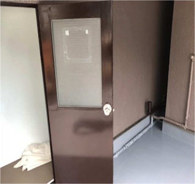 東京港区Nマンション外壁防水工事 スチールドア 施工完了